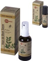 Aromed Muggenspray 50 ml en Insectenbeten roller 10 ml - 100% Natuurlijke ingredienten