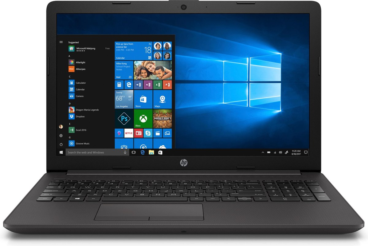 HP 255 G7 - Laptop - 15.6 Inch - AMD Ryzen 3 3200U - 8GB Werkgeheugen - 256GB SSD - Windows 10 Pro