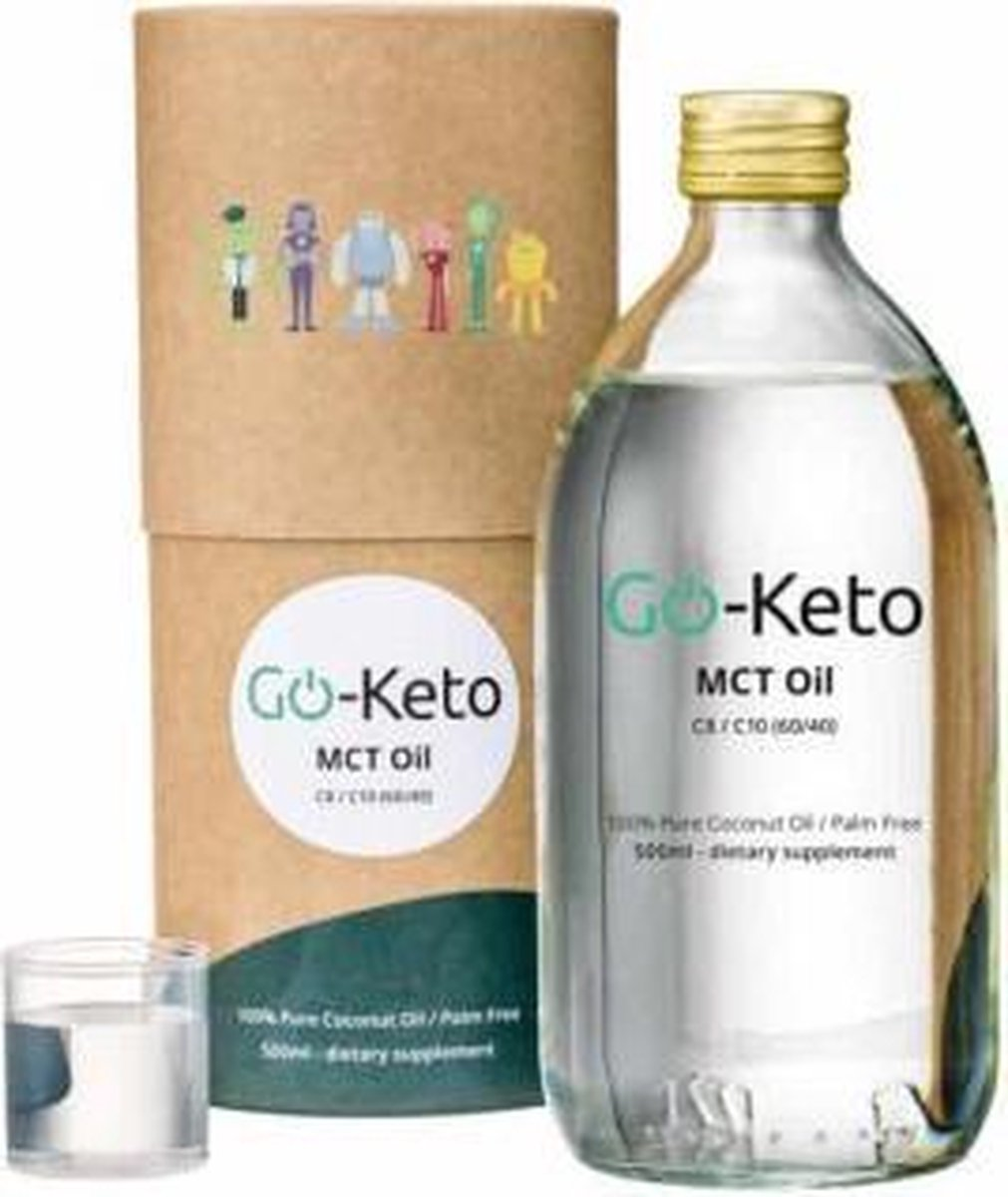 MCT Olie Keto Puur Kokos C8 Go-Keto 500ml