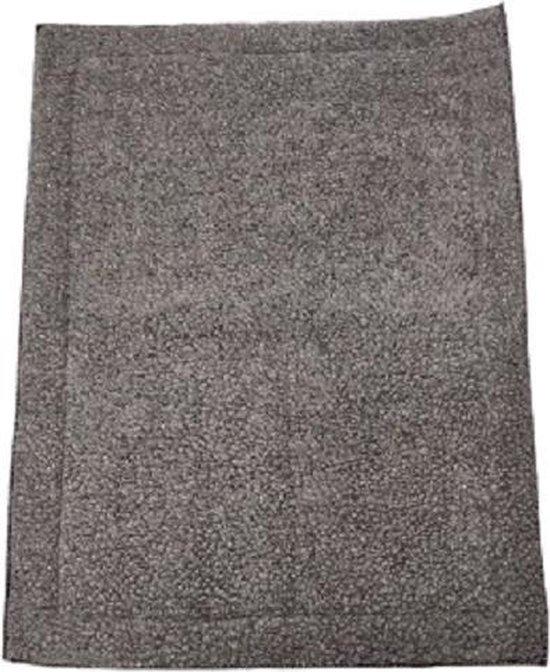 Benchkussen 70x50 cm. grijs. Eenvoudig sheepskin benchkussen. Geschikt voor benches van 76 cm.