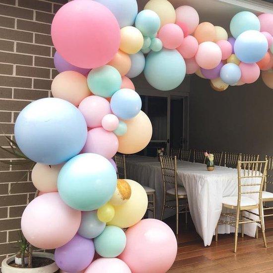 Ballonnenboog - Pastel - 114 ballonnen - BIEK20 - Feestversiering - Partydecoratie - DIY - Ballon - Verjaardag - Feest