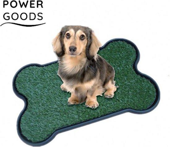 Power Goods Hondentoilet - Puppy training pads – Herbruikbaar - Hondentoilet kunstgras gerecycled – Puppy pads – Hondentoilet outdoor/indoor – Zindelijkheidstraining hond - Puppy pads – Hondenmat – 43 X 68 cm
