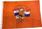EK 2021 Voetbal Vlag Oranje Leeuw met Rood – Wit –