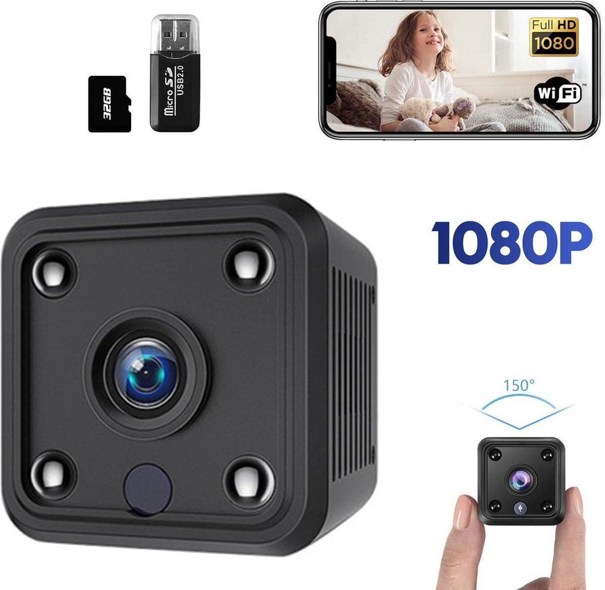 Spy Camera 1080P Full HD met WIFI en Nightvision incl. 32GB SD kaart - Beveiligingscamera voor binne