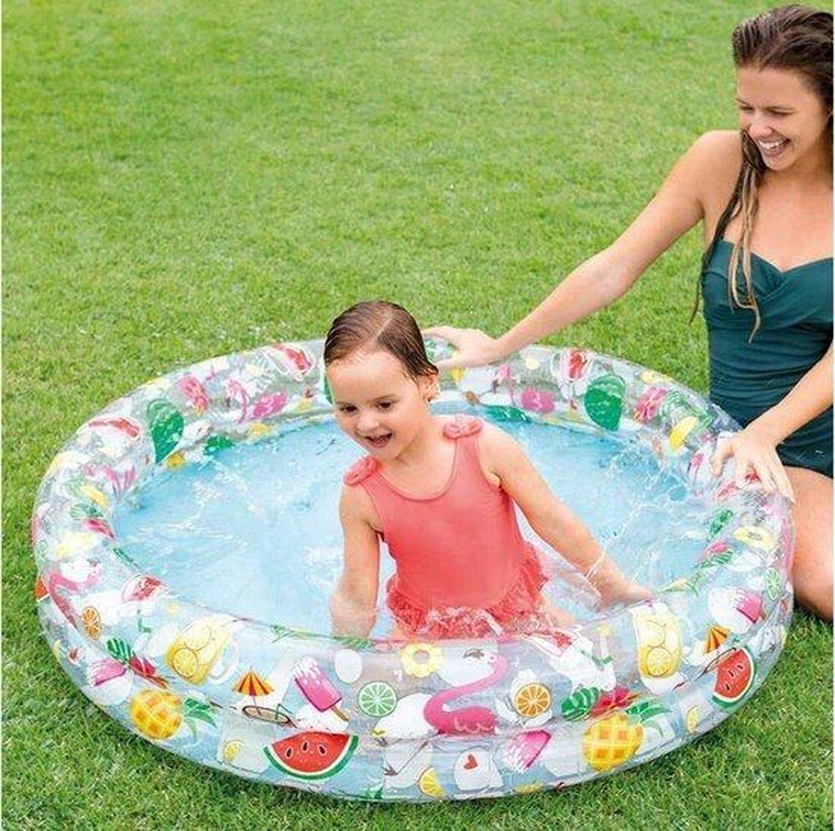 Intex tweerings kinder tropisch zwembad 122 cm-