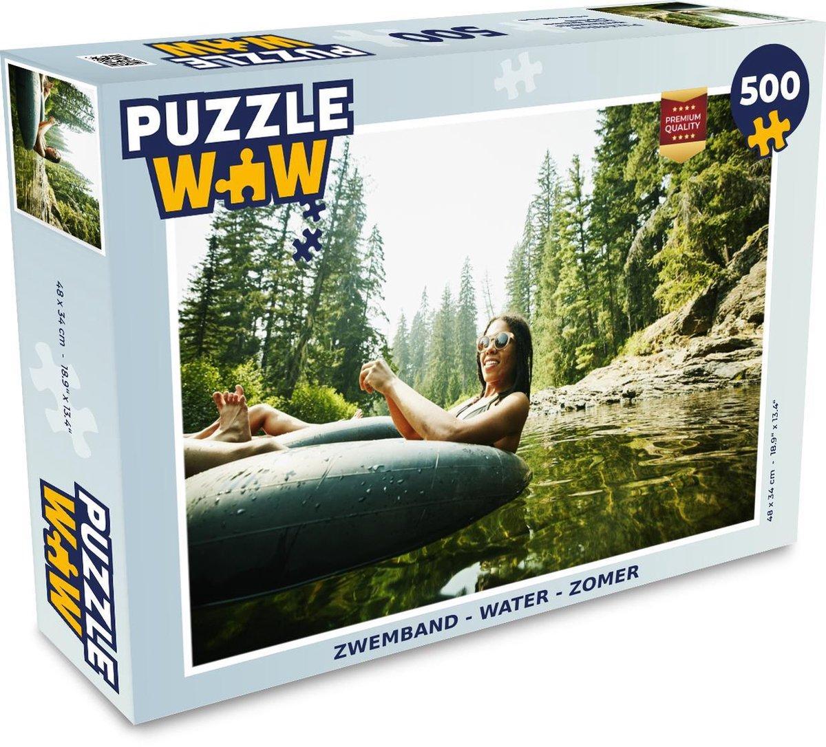Puzzel - 500 stukjes - Zwemband - Water - Zomer