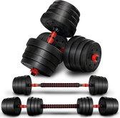 Sens Design halterset dumbell set gewichten set zwart - 20 kg