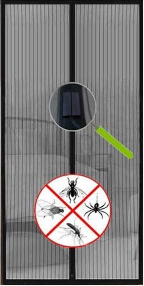 Magnetisch Vliegengordijn - 210 x 90 cm - Horgordijnen - Hordeuren - Deurgordijn