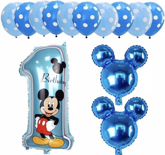 Disney Mickey Mouse Ballonnenset - Folieballonnen - Heliumballonnen - 13 Stuks - Feestdecoratie - Verjaardag - Feestje -Kinder Verjaardag - 1 jaar