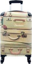 Koffer - Koffer - Vintage - Groen - 35x55x20 cm - Handbagage - Trolley