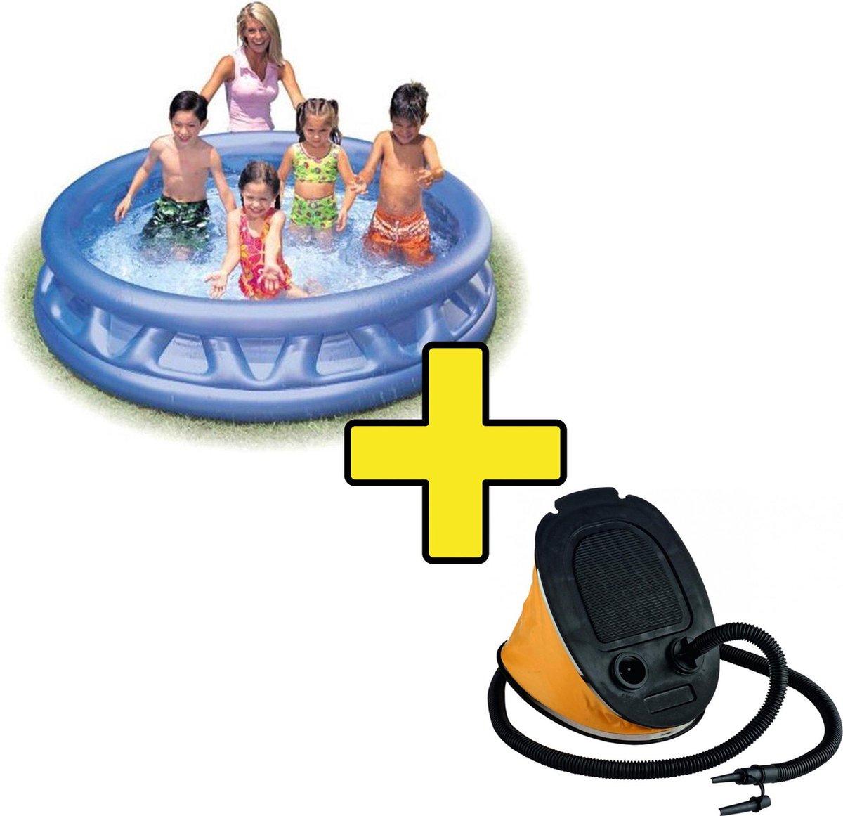 Intex Soft Pool Zwembad inclusief 5 liter Pomp - Voetpomp - Opblaaszwembad - 188 x 46 cm