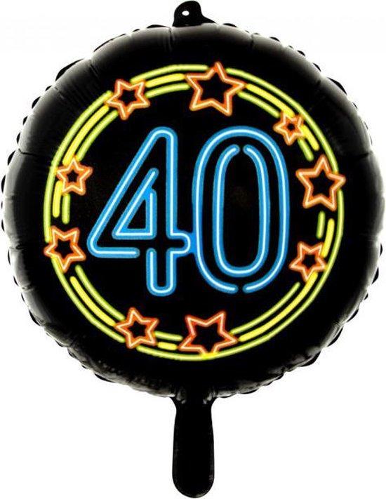 Wefiesta Folieballon 40 Neon 45 Cm Zwart