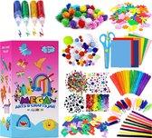 Allerion Knutselkoffer – 375-delig – Voor Jongens en Meisjes – Creatief Speelgoed – Knutselen