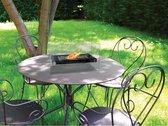 Tafelhaard - Vuurkorf - Bio-haardtafel met gehard glas - Vuurbak - vuurschaal - Premium decoratie - Verwarming - heater - Binnenverwamring - 2021 trend