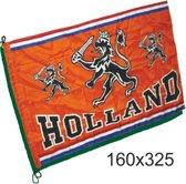 Mega grote vlag oranje Holland met leeuw   EK Voetbal 2020 2021   Nederlands elftal vlag   Nederland supporter   Holland souvenir   160 x 325 cm