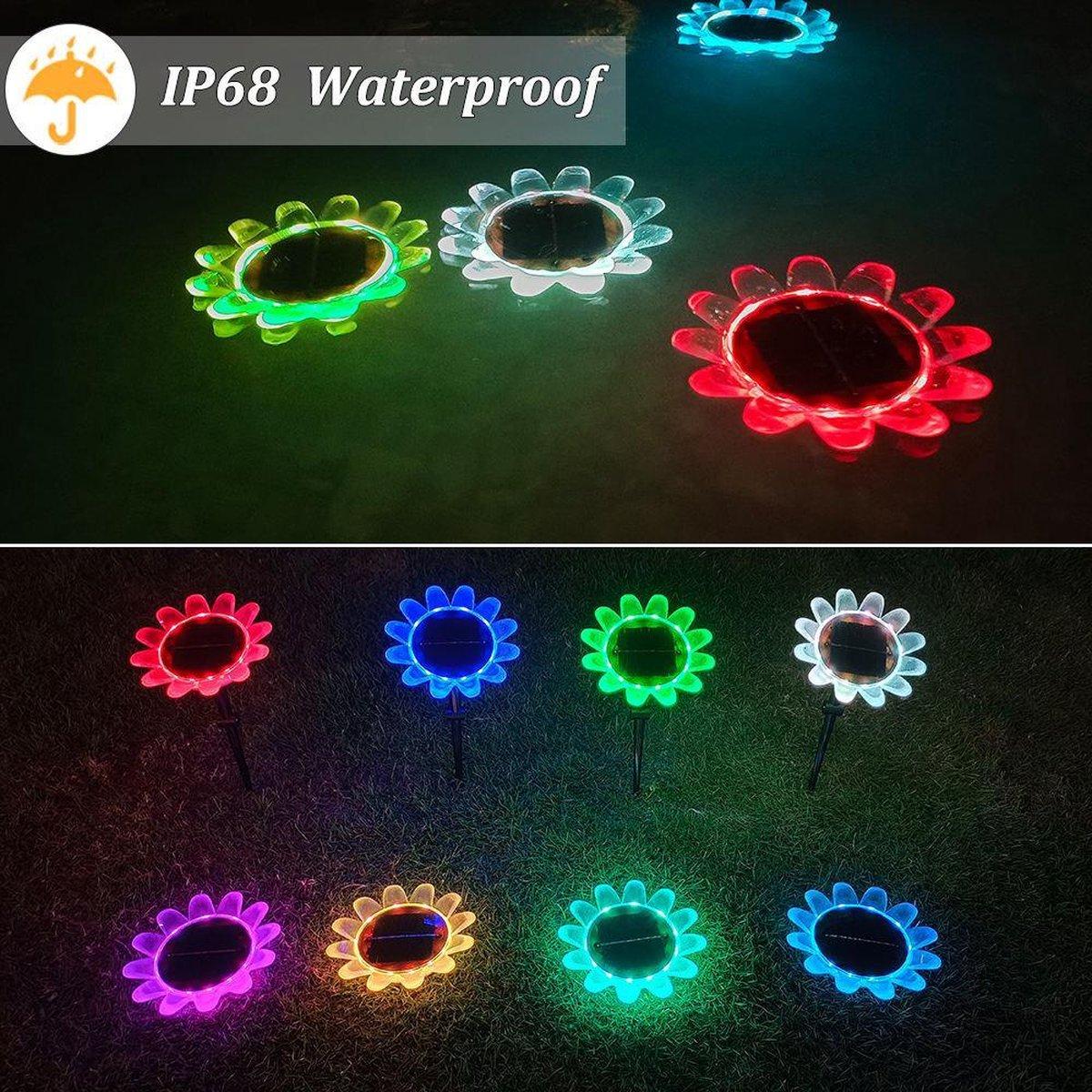 2 X zonne Zwembadverlichting | solar pool light |2 stuks| zwembad verlichting | zonne-zwembad licht | Led-lamp voor zwembadverlichting | drijvend zwembadlichthting | Waterbestendig licht + Afstandsbediening |