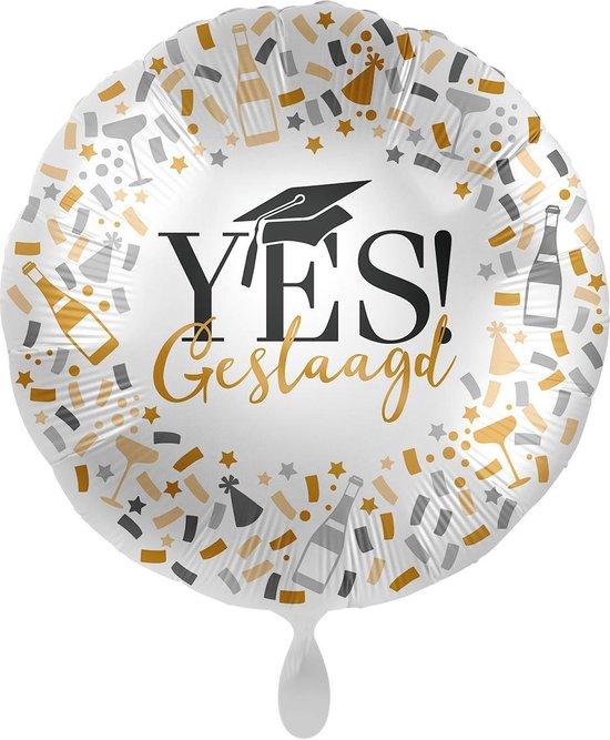 Everloon - Folieballon - Yes! Geslaagd - 43cm - Voor examen en diploma