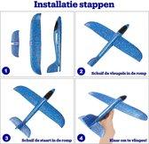 Zweefvliegtuig Set - Speelgoed Vliegtuigjes Foam - Vlieger - 3 stuks - Blauw/Rood/Oranje
