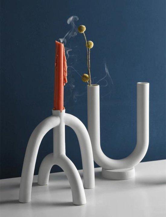 Scandinavische Kandelaar van Stevig Keramiek | Modern Abstract Design