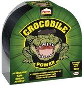 Pattex Crocodile Power Tape - Duckt tape - Waterdicht - Extreem sterk - 50mmx30m - Zwart - Premium Grip