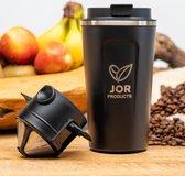 Thermo koffiebeker - Thermoskan - Thermosfles - Draagbare koffiemaker - Coffee travel mug - RVS