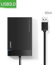 """UGREEN - Externe Harde schijf behuizing voor 2'5"""" SATA HDD/SSD - USB3.0 - Zwart"""