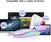Draadloze oplaadbare MAC & Windows  Bluetooth  Muis 2020 Model USB Oplaadbaar RGB Silent  Zwart