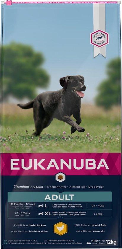 Eukanuba Dog Adult - Large Breed - Kip - Hondenvoer - 12 kg