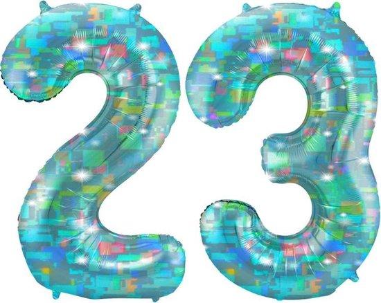 Cijfer 23 Galactic Aqua (86cm)