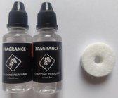 Somstyle Autoparfum Hervulling + Scent Donut - Eau De Cologne Parfum - Frisse Geur - 2 x 15 ml Refill