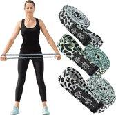 Fitness Elastiek Lange weerstandsband Pull up Band Powerband Full Body - Groen