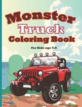 Monster Truck Coloring Book for Kids Age 4-8