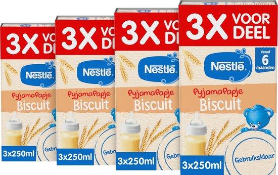 Nestlé PyjamaPapje Biscuit - babypap - vanaf 6 maanden - 4 stuks - totaal 12 porties