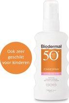 Biodermal Zonnebrand spray voor de gevoelige huid