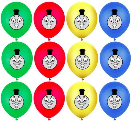 ProductGoods - 10x Thomas de Trein Ballonnen Verjaardag -Verjaardag Kinderen - Ballonnen - Ballonnen Verjaardag - Thomas de Trein - Kinderfeestje