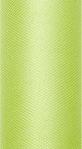 Lime Groene Tule Rol 15cm 9m