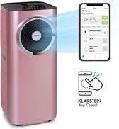 Klarstein Kraftwerk Smart 12K Mobiele airco 12.000 BTU (3,2 kW) - Turbineventilator - 410 m³/h - app bediening via WiFi - afstandsbediening