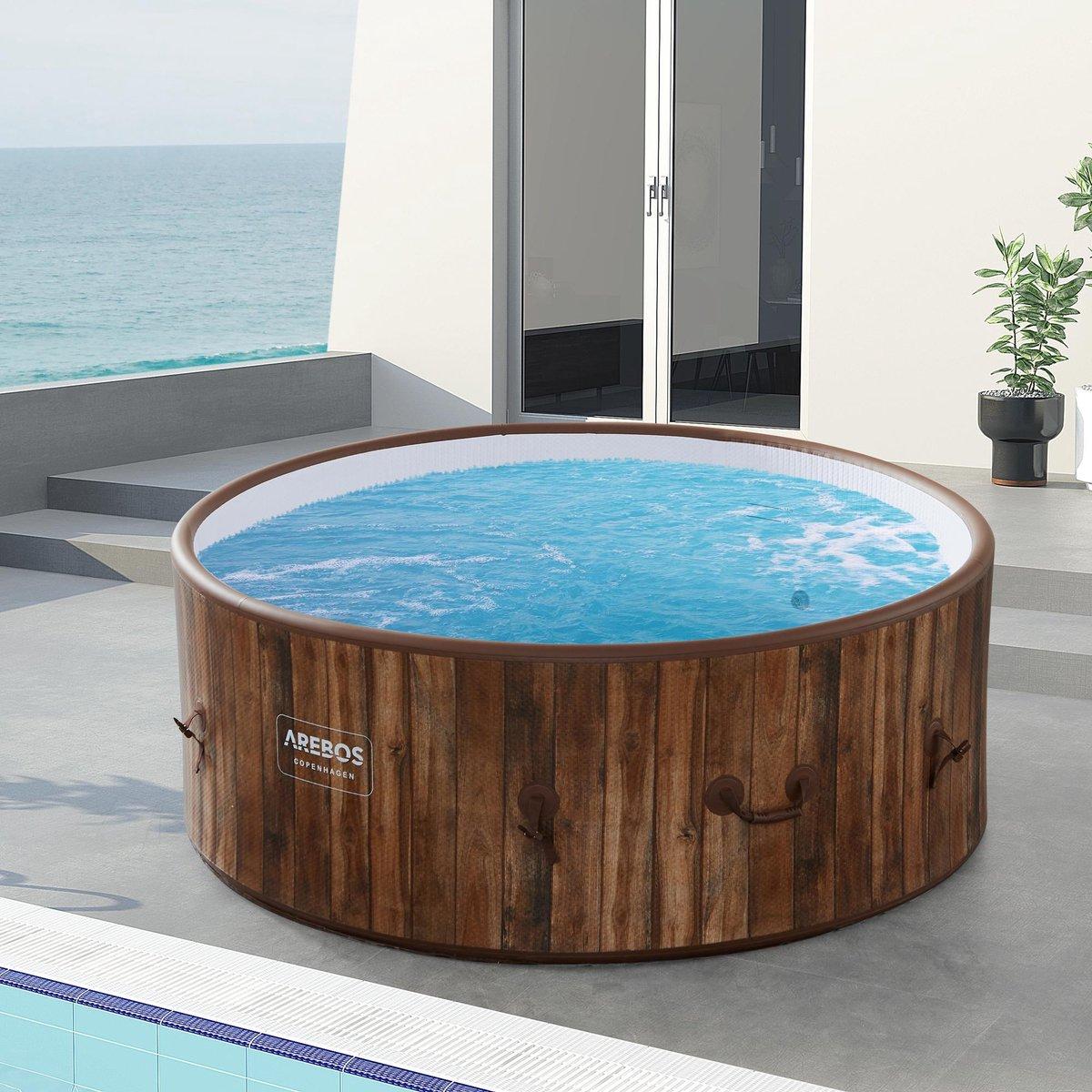 AREBOS Copenhagen In / Outdoor Spa Verwarming van het zwembad Opblaasbare Massage