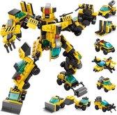 QuchiQ™ Robots - Robot speelgoed - Speelgoed robot voor jongens - Transformers robots - 8 in 1 Bouwpakket - Geschikt voor LEGO - Speelfiguren sets