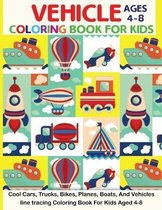 Vehicle Coloring Book For Kids