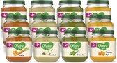 Olvarit Variatiemenu Groente - babyhapje vanaf 4+ maanden - 4 smaken babyvoeding - 12 x 125 gram