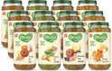Olvarit Variatiemenu Maaltijd - babyhapje vanaf 12+ maanden - 4 smaken babyvoeding - 12 x 250 gram