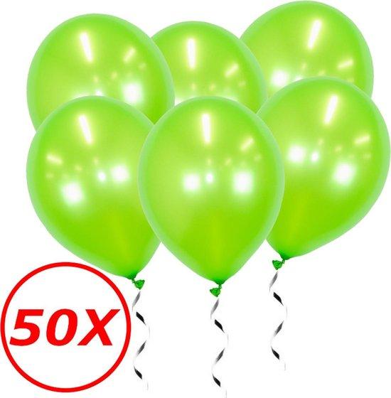 Groene Ballonnen Lime Metallic 50St Feestversiering Verjaardag Ballon