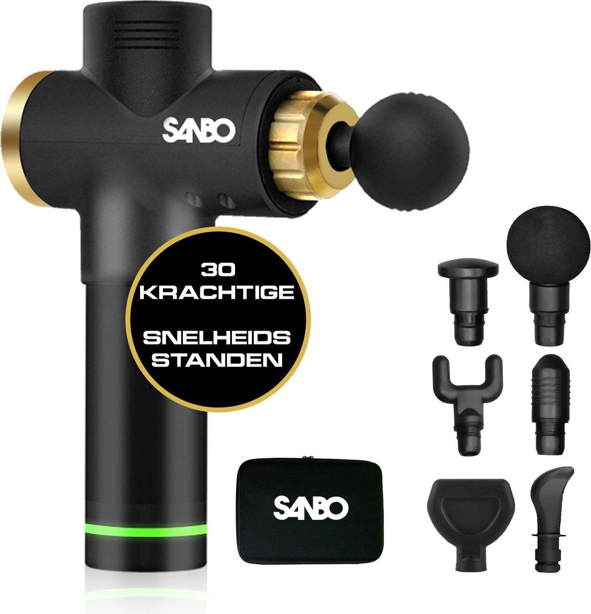 Sanbo® - Massage gun - sport en relax massage - professioneel - Inclusief Koffer - inclusief APP