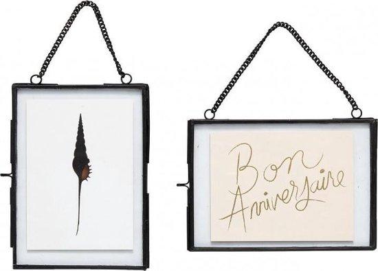 Hübsch fotolijst zwart metaal - set van 2 - ketting
