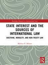Omslag State Interest and the Sources of International Law
