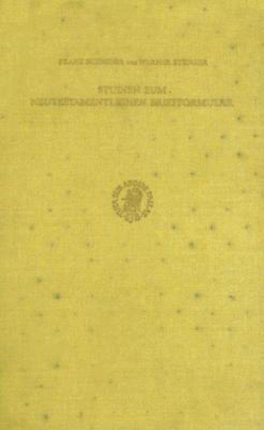 Boek cover Studien zum neutestamentlichen Briefformular van Schnider (Hardcover)