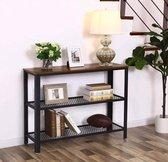 Mira - TV meubel | Vintage| Roosters | Dressoir | Bijzettafel | Schoenrek | Industrieel | 101,5 x 35 x 80 cm |  Zwart | ijzer | Hout