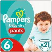 Pampers Baby-Dry Pants - Maat 6 (Extra Large) 15+ kg - 21 Stuks - Luierbroekjes