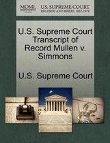 U.S. Supreme Court Transcript of Record Mullen V. Simmons